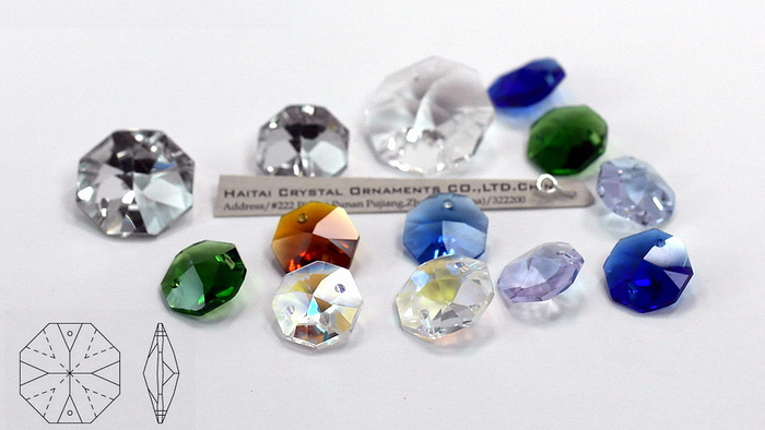 Size Face Crystal Octagon Beads, Crystal Chandelier Parts, Crystal ...